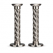 L'Objet Platinum Carrousel Large Candlesticks Set of 2
