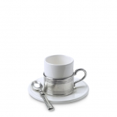 Espresso Cup with Ceramic Saucer Set of 2