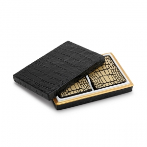 L'Objet Crocodile Box with Playing Cards 2 Decks
