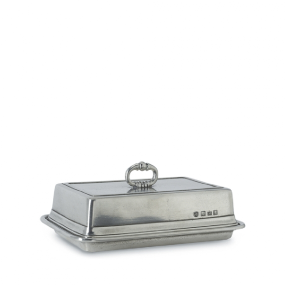 Double Butter Dish with Cover