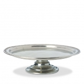 MATCH Pewter Toscana Pie Plate Silver