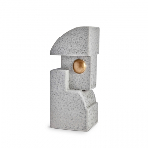 L'Objet Cubisme Bookend One Grey