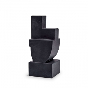 L'Objet Cubisme Bookend One Black