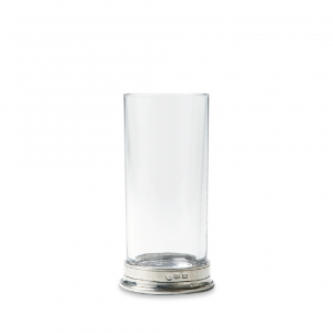 MATCH Pewter Highball Glass Set Of 2 Clear