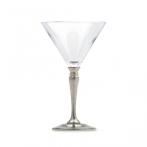 MATCH Pewter Martini Glass Set Of 2 Silver