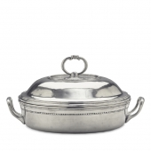 MATCH Pewter Toscana Round Pyrex Casserole Dish With Lid Silver
