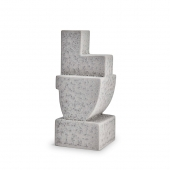 L'Objet Cubisme Bookend Two Grey