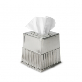 MATCH Pewter Impero Tissue Box Square Silver