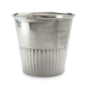 MATCH Pewter Impero Waste Basket Silver