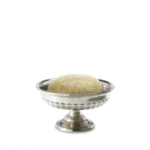 MATCH Pewter Impero Soap Dish Silver