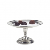 MATCH Pewter Pedestal Tray Silver