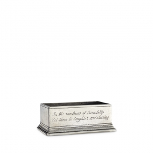 MATCH Pewter Sugar Packet / Business Card Holder Silver