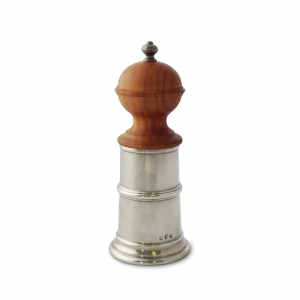 MATCH Pewter Wood & Pewter Pepper Mill Silver