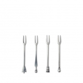 MATCH Pewter Assorted Olive Cocktail Forks Set Of 4 Silver