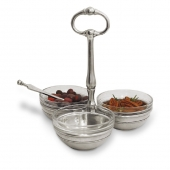 MATCH Pewter Condiment Trio Silver