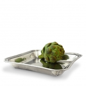MATCH Pewter Lorenzo Square Serving Dish Silver