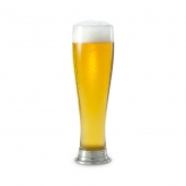 MATCH Pewter Pilsner Glass Set Of 2 Clear
