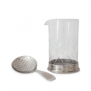 Mixing Glass & Cocktail Strainer Set
