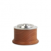 MATCH Pewter Salt Cellar Wood