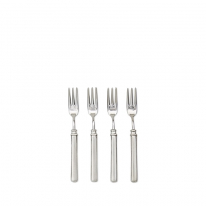 MATCH Pewter Gabriella Cocktail Fork Set Of 4 Silver