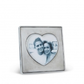 MATCH Pewter Heart In Square Frame Silver