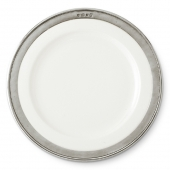MATCH Pewter Convivio Dinner Plate Set Of 4 White