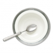 MATCH Pewter Convivio Cereal Bowl Set Of 2 White