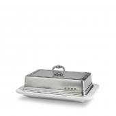 MATCH Pewter Convivio Double Butter Dish Silver