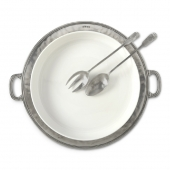 MATCH Pewter Convivio Round Serving Platter White