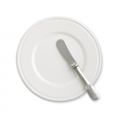 MATCH Pewter Convivio Bread Plate White