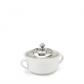 MATCH Pewter Convivio Covered Soup Bowl Only White