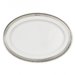 MATCH Pewter Convivio Oval Serving Platter White