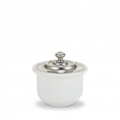 MATCH Pewter Convivio Sugar Bowl White