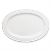 MATCH Pewter Convivio Ceramic Oval Tray White
