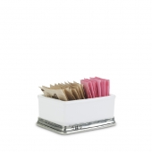 MATCH Pewter Convivio Sugar Packet Holder White