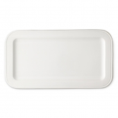 MATCH Pewter Convivio Ceramic Rectangular Tray White