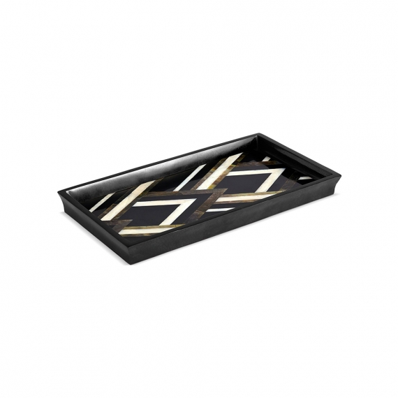 Deco Noir Rectangular Tray - Small