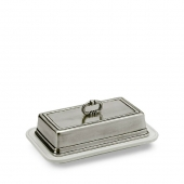 MATCH Pewter Convivio Single Butter Dish Silver