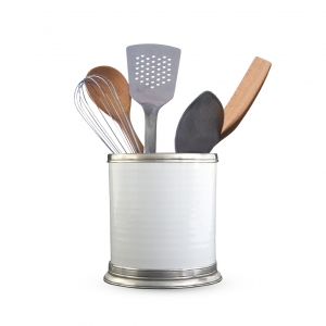 MATCH Pewter Convivio Kitchen Utensil Holder White