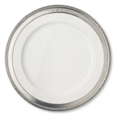 MATCH Pewter Luisa Dinner Plate Set Of 4 White