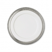 MATCH Pewter Luisa Dessert Plate Set Of 4 White