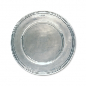 MATCH Pewter Scribed Rim Charger