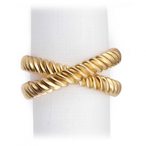 Deco Twist Napkin Jewels Set of 4 - Gold