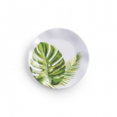 Q Squared Palm Plate Set Green
