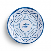 Q Squared Sardinia Melamine Salad Plate Set Of 8 Blue