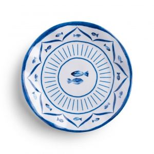 Sardinia Melamine Salad Plate Set of 4