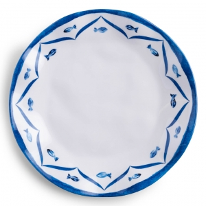 Sardinia Melamine Dinner Plate Set of 4