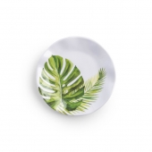 Q Squared Palm Melamine Canape Plate Set Of 12 Green