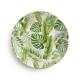 Q Squared Palm Melamine Salad Plate Set Of 8 Green