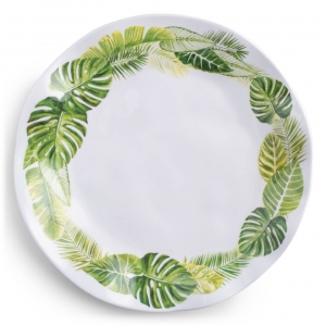 Q Squared Palm Melamine Dinner Plate Set Of 4 Green